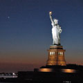 Statue of Liberty night view